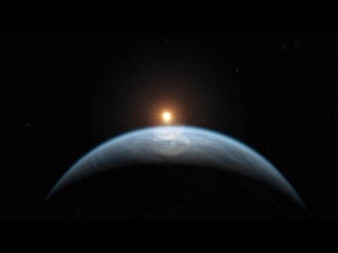 Animation of Exoplanet K2-18b (Artist's Impression)