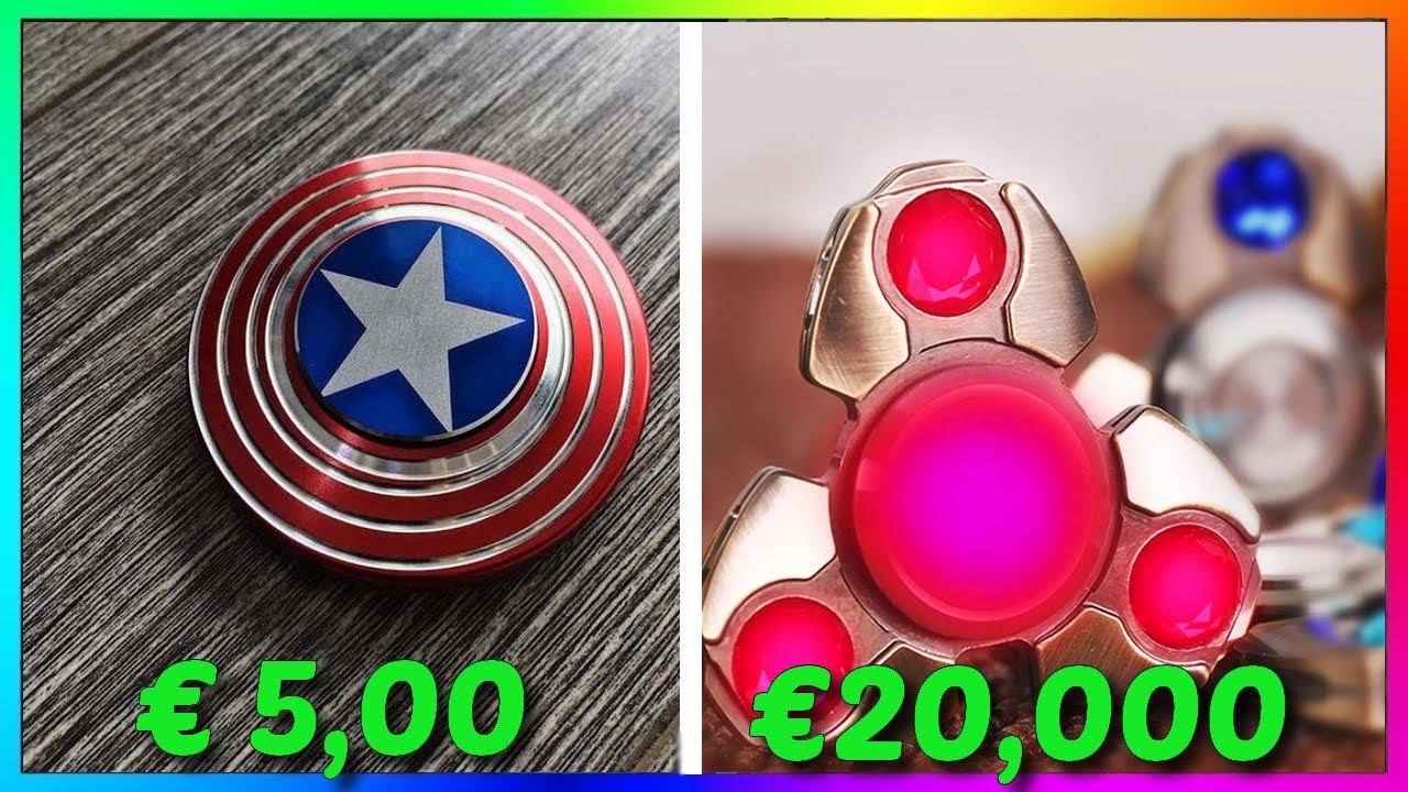 HAND SPINNER 5€ VS HAND SPINNER 20,000€ - YouTube