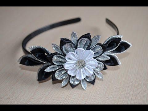 Черный ободок Мастер класс как сделать черный ободок своими руками DIY handmade flower accessory