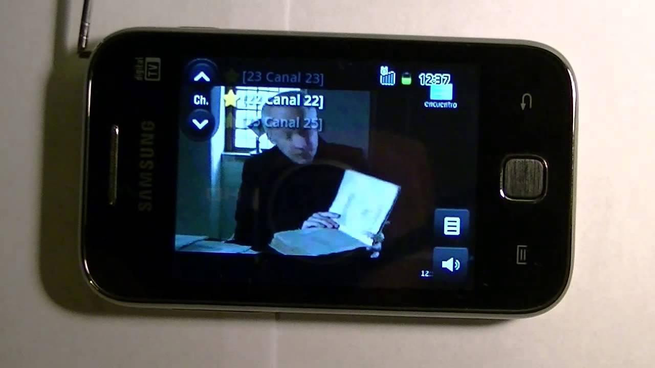 65af8caf8db Samsung Galaxy Y Tv Digital Móvil - YouTube