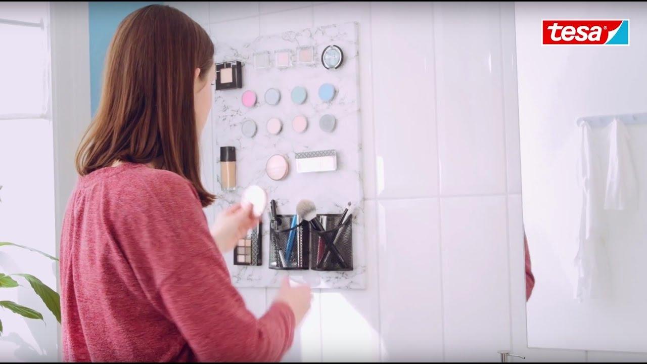 tesa diy tipp make up board selbst gestalten youtube. Black Bedroom Furniture Sets. Home Design Ideas