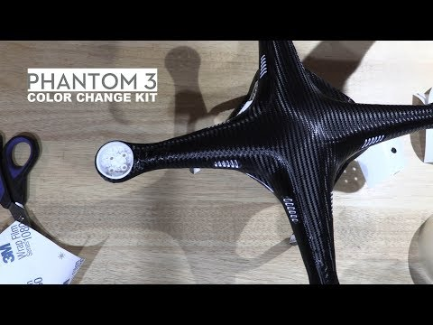 Phantom 3 Full Body Skin Kit - How to Carbon Fiber Drone