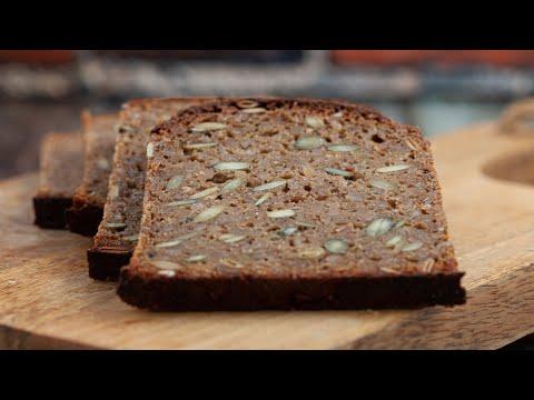 Danish RYE BREAD Recipe - 100% Sourdough Rye Bread Recipe - Smørrebrød