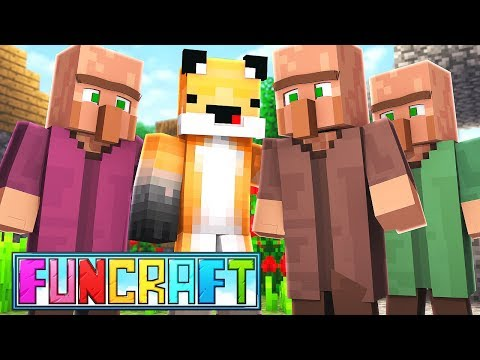CREATING MY OWN VILLAGE - Minecraft Funcraft EP 16