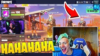 "Ninja Almost Cries of Laughter Watching ""Smartest 9 Year old in Fortnite"""