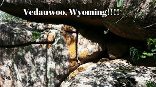Vedauwoo Wyoming. Free camping, 14 days. Boondocking is great under conditions like this.