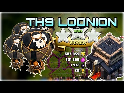 Clash Of Clans - Destroying The Loot With Townhall 9 Loonion! - Easy 3 Star Farming Army