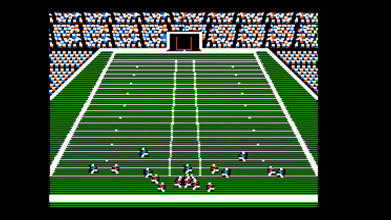 A screenshot from John Madden Football (1988)
