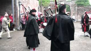 Lockerbie Pipe Band at Hoddom Castle Caravan Park, 1
