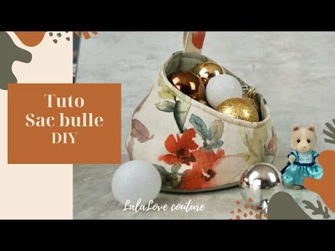 Tuto Coudre un panier à rangement (sac bull) /bubble basket ,storage pod