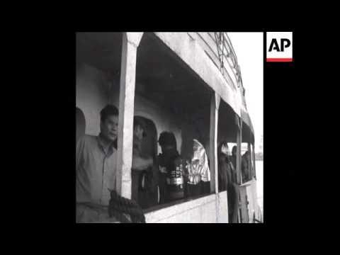 SYND 11-10-69 FOUR KILLED AS TANKER BLAZES IN SAIGON HARBOR