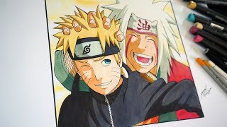 Drawing Naruto and Jiraiya  ナルト