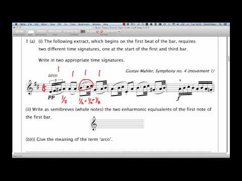 ABRSM Music Theory Grade 5  Question 1  Extract Analysis