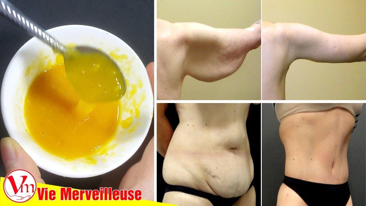 Enlever la Peau Flasque et l'Affaissement (jambes, bras et ventre) avec Ce Remède Naturel #1