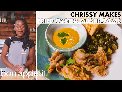Chrissy Makes Fried Oyster Mushrooms | From the Home Kitchen | Bon Appétit