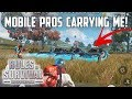 MOBILE PROS CARRY ME! - Rules of Survival: Battle Royale