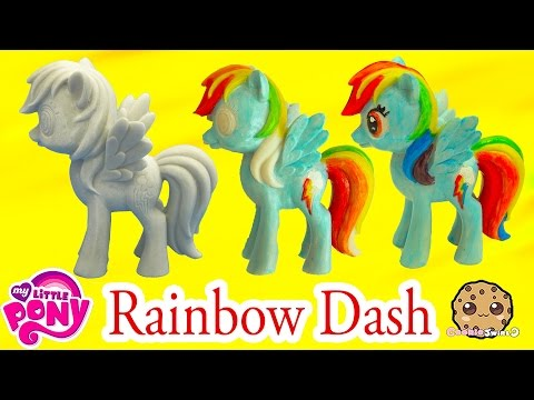 DIY Painting My Little Pony Rainbow Dash Statue Paint Craft Do It Yourself Video Cookieswirlc