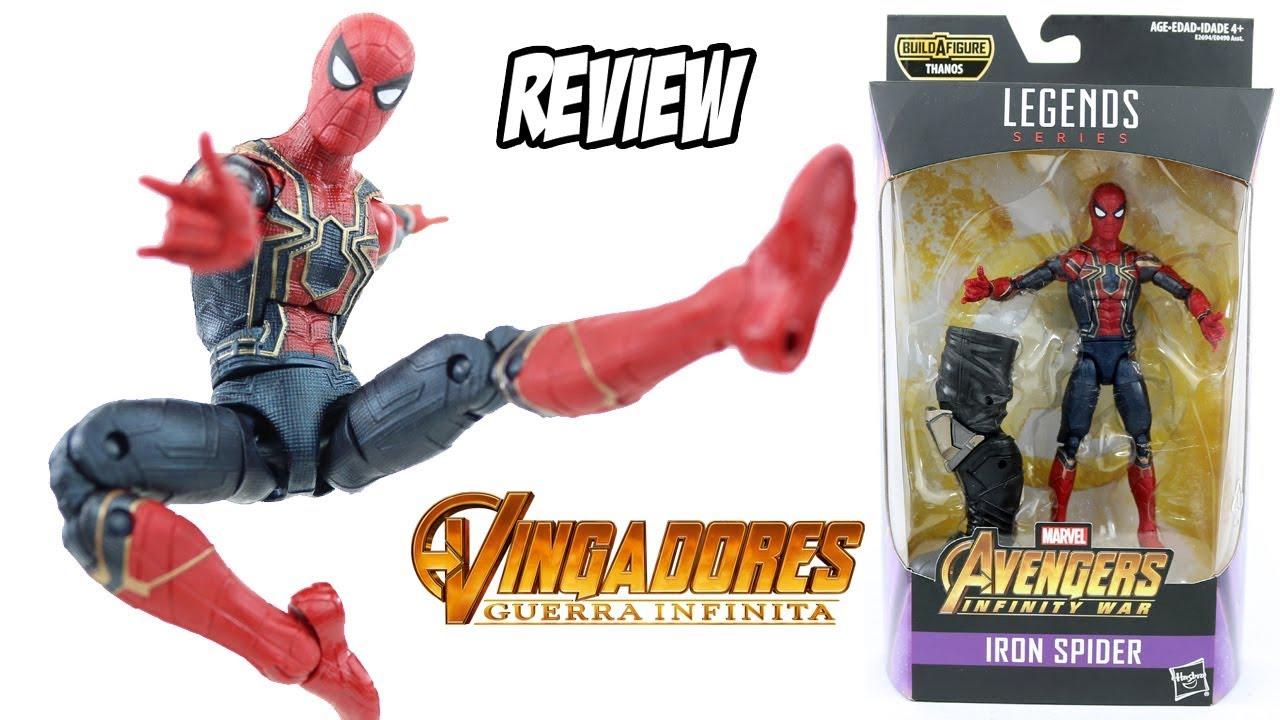 b650991facc Review Aranha de Ferro Iron Spider Marvel Legends filme Vingadores Guerra  Infinita brinquedo boneco