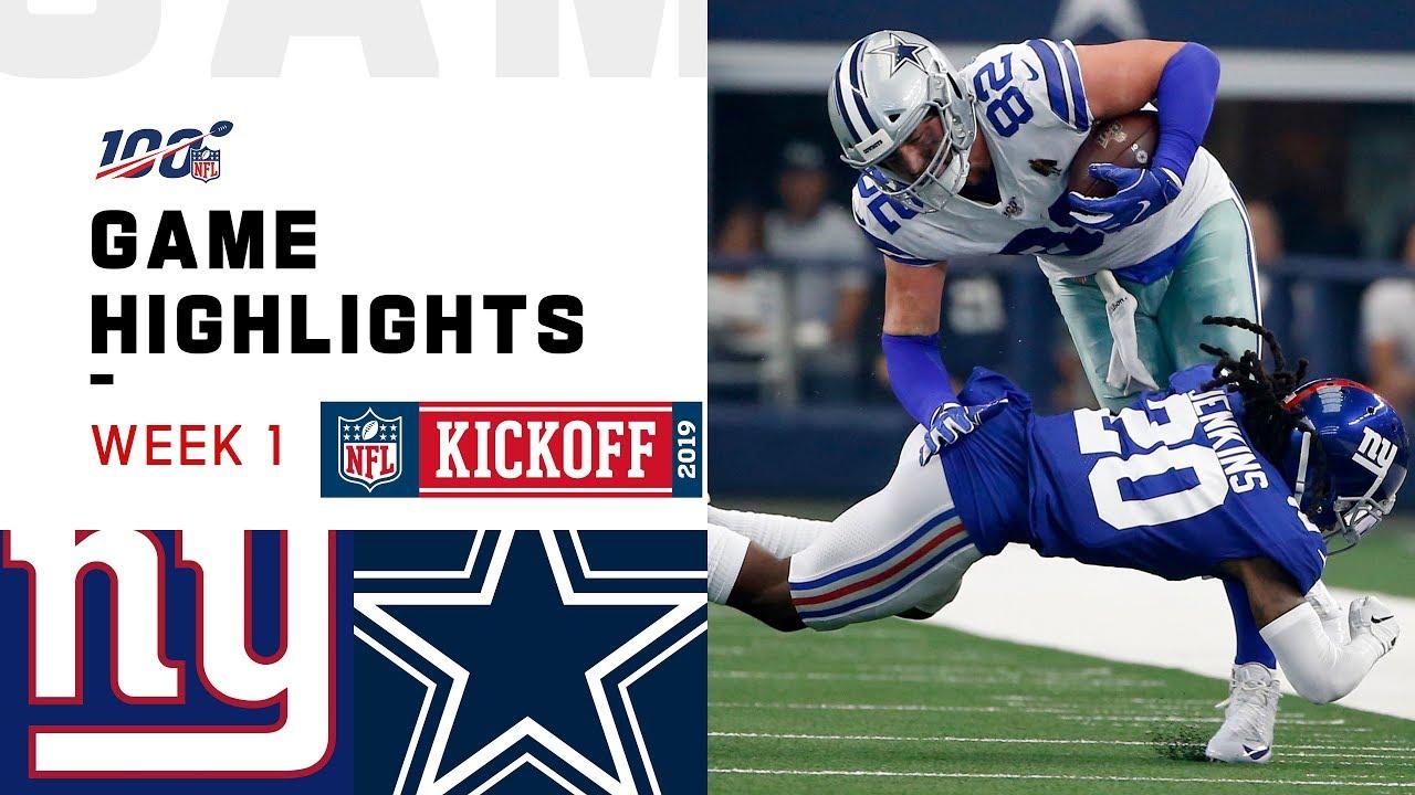 Giants vs. Cowboys Week 1 Highlights | NFL 2019