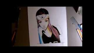 Drawing Panda Girl