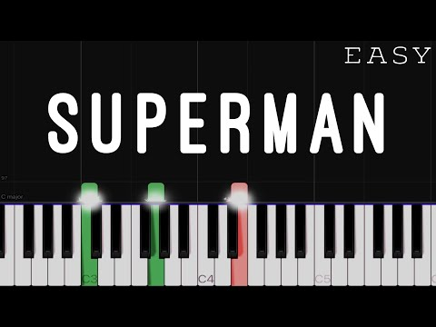 Five For Fighting - Superman | EASY Piano Tutorial