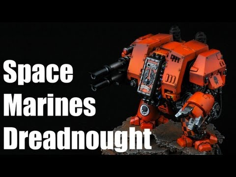 How to paint Space Marines Dreadnought? Astral Tigers Warhammer 40k Airbrush Tutorial 2/2
