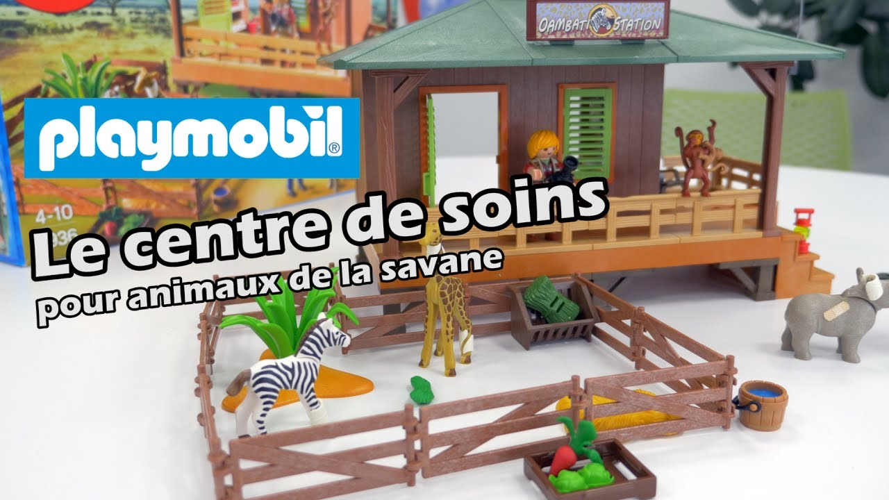 Playmobil 6936 le centre de soin pour animaux de la savane d mo en fran ais hd fr youtube - Playmobile savane ...
