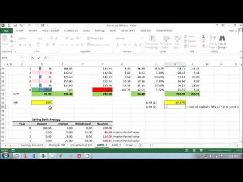 Average Internal Rate of Return in Project Finance or Real Estate Model (2)  Part 2 of 2