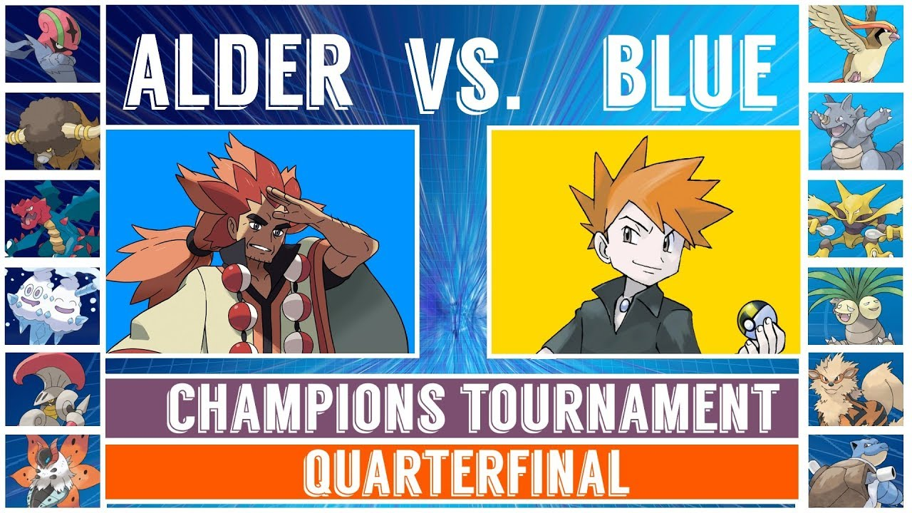Blue Vs Alder Pokémon Sun Moon Champions Tournament Quarterfinal Youtube