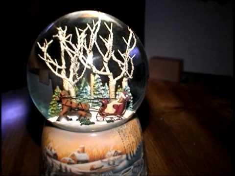 Musical Scenic Sleigh Ride Christmas Snow Globe Glitterdome