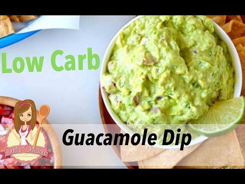 Low Carb Guacamole Avocado Dip recipe - Healthy Snack // Daily Delicious