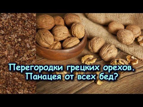Перегородки грецких орехов: лечебные полезные свойства