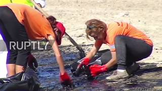 Greece: Oil spill from sunken tanker prompts closure of Athens' beaches