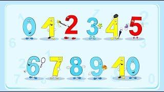 Учим цифры. Обучающее видео для малышей 2-5 лет. Учимся весело и легко.