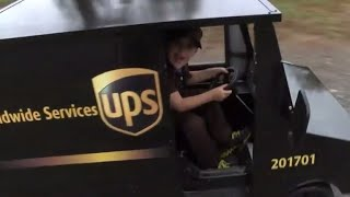 Five-year-old boy dreams of being  UPS driver