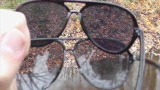 Дешевые солнцезащитные очки с алиэкспресс :) Обзор, сравнение с обычными