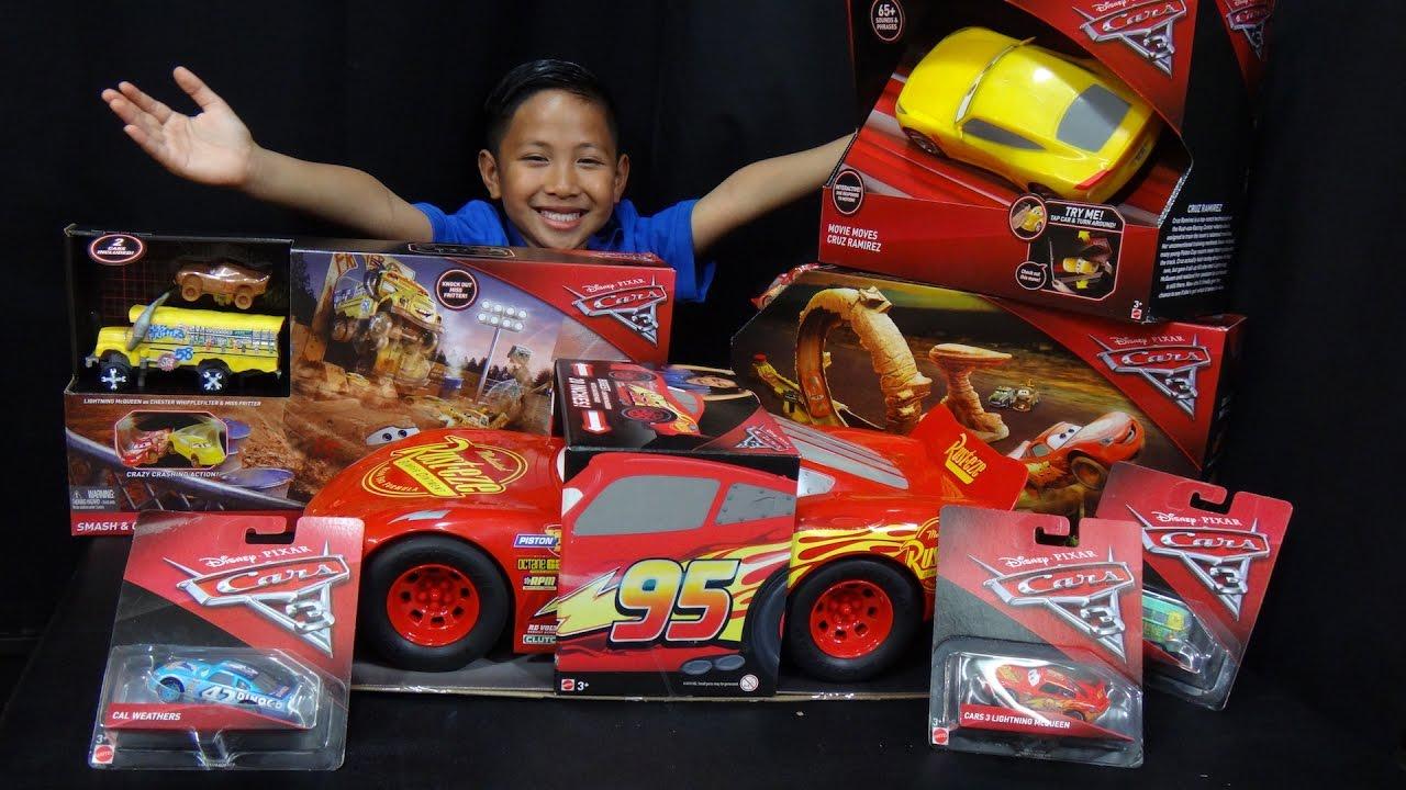 Disney Cars Toys Youtube: Mattel Disney Pixar Cars 3 Big Box Toy Unboxing Video