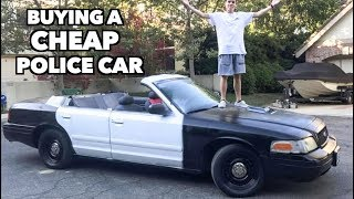 BUYING THE CHEAPEST POLICE CAR IN THE U.S?!