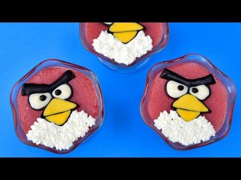 ANGRY BIRDS STRAWBERRY PUDDING, HANIELA'S