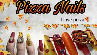 PIZZA PARTY NAILS COLLAB W/BABYGIRLNAILS