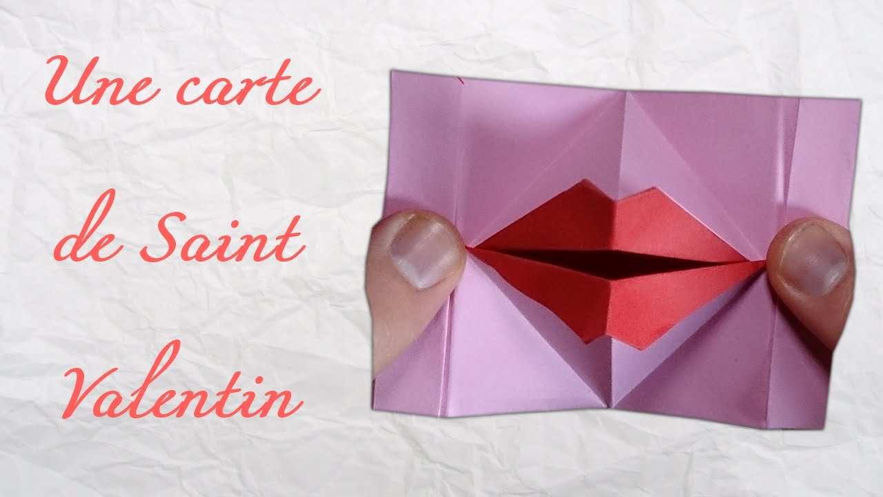 origami une carte de saint valentin anim youtube. Black Bedroom Furniture Sets. Home Design Ideas