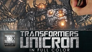 DRAWING TRANSFORMERS UNICRON IN FULL COLOR!