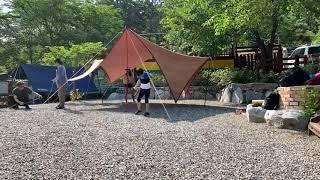 타프 텐트 설치 타임랩…