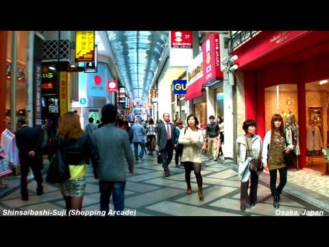 Walking Through Shinsaibashi Shopping Arcade @ Osaka Japan [Namba HD POV ]   心斎橋