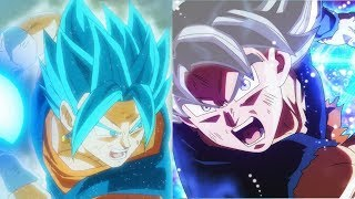 DBZMacky Vegito vs MUI Goku Power Levels (Dragon Ball Super)