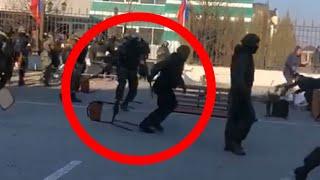 БРОСАЛИ стульями на митинге в Ингушетии