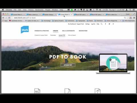 Create A Book From A PDF File Using Blurb's PDF To Book Tool