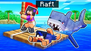We're STUCK On A RAFT In Minecraft!