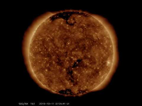 Actual Pictures From The Sun Observation 2019-10-11 Short Clip