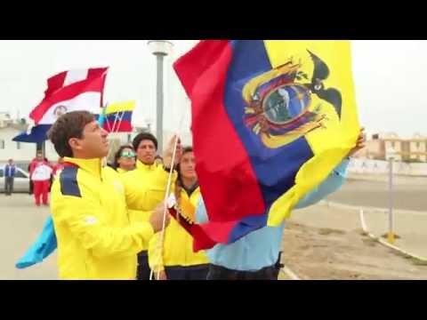 Izada de Bandera de los II Juegos Bolivarianos de Playa Huanchaco 2014